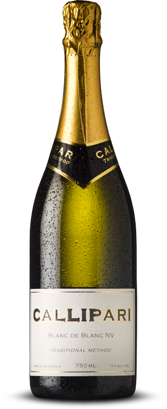 Callipari Wines Blanc De Blanc Sparkling Australian White Traditional Method Boutique Wine