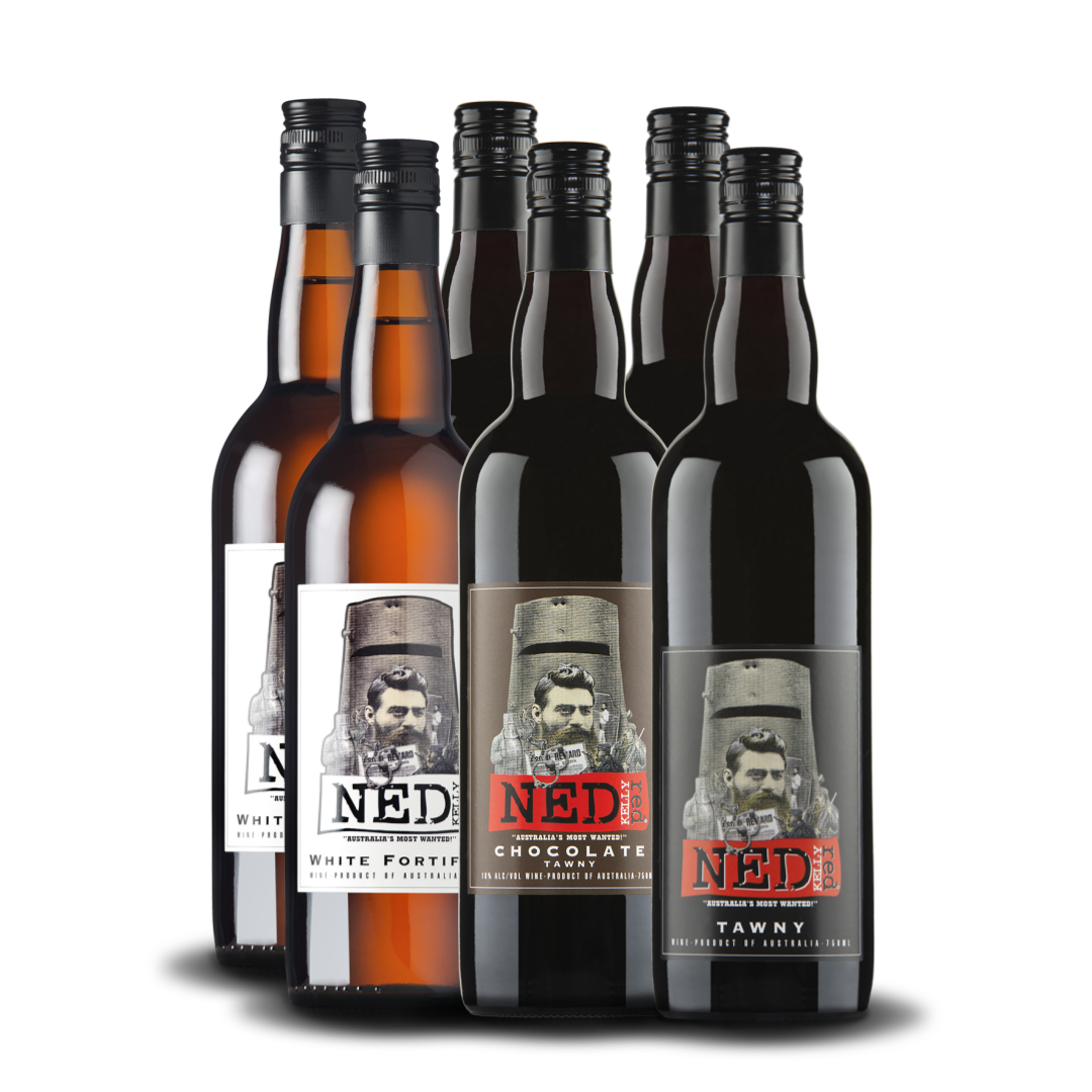 Ned Kelly Red & Callipari Wines Tawny & Fortified Mixed Box (6 x 750ml)