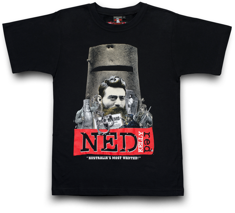 Ned Kelly Australian Legend Merchandise T-Shirt