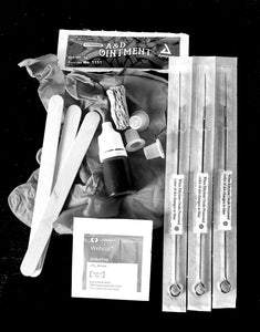 Stick too poke tattoo kit, diy stick tattooing, home tattoo kit, free instructions