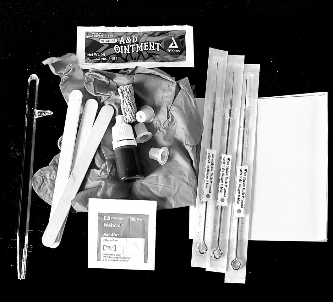Hand Poke Too Stick Tattoo Kit, Tattoo needle Holder Stick, Tattoo Pen, Reusable Tattoo Stick
