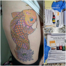 Load image into Gallery viewer, Stick too Poke Tattoo  COLOR TATTOO. Reusable Stick too Poke Tattoo Stick. Free Instructional Guide, Original Pick and poke color tattoo kit, Made in USA