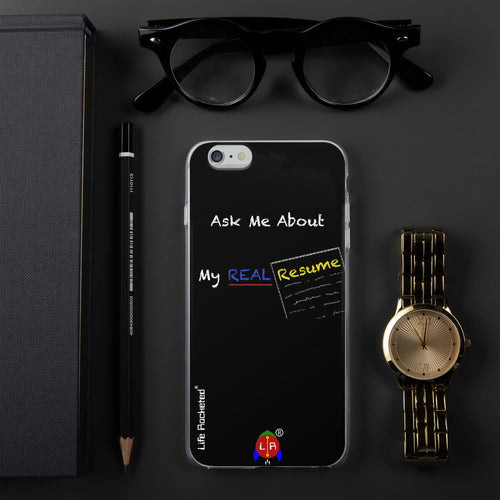 Real Resume iPhone Case