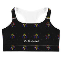 Load image into Gallery viewer, Outer Space Logo Sports bra