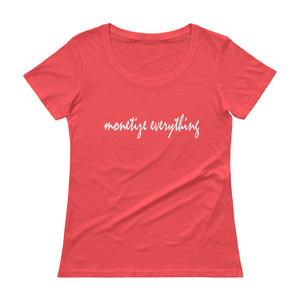 Life Rocketed's Monetize Scoopneck T-Shirt for women