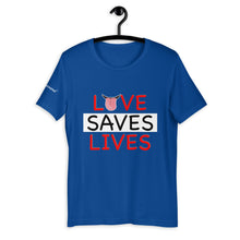 Load image into Gallery viewer, Love Saves Lives tee - men