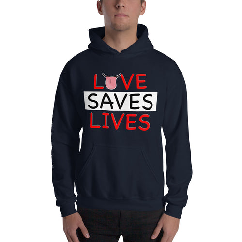 Life Rocketed love saves lives hoodie for men
