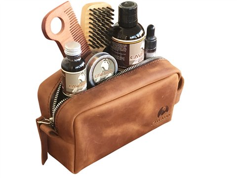 Caveman Luxury Leather Holiday DOPP Gift Set