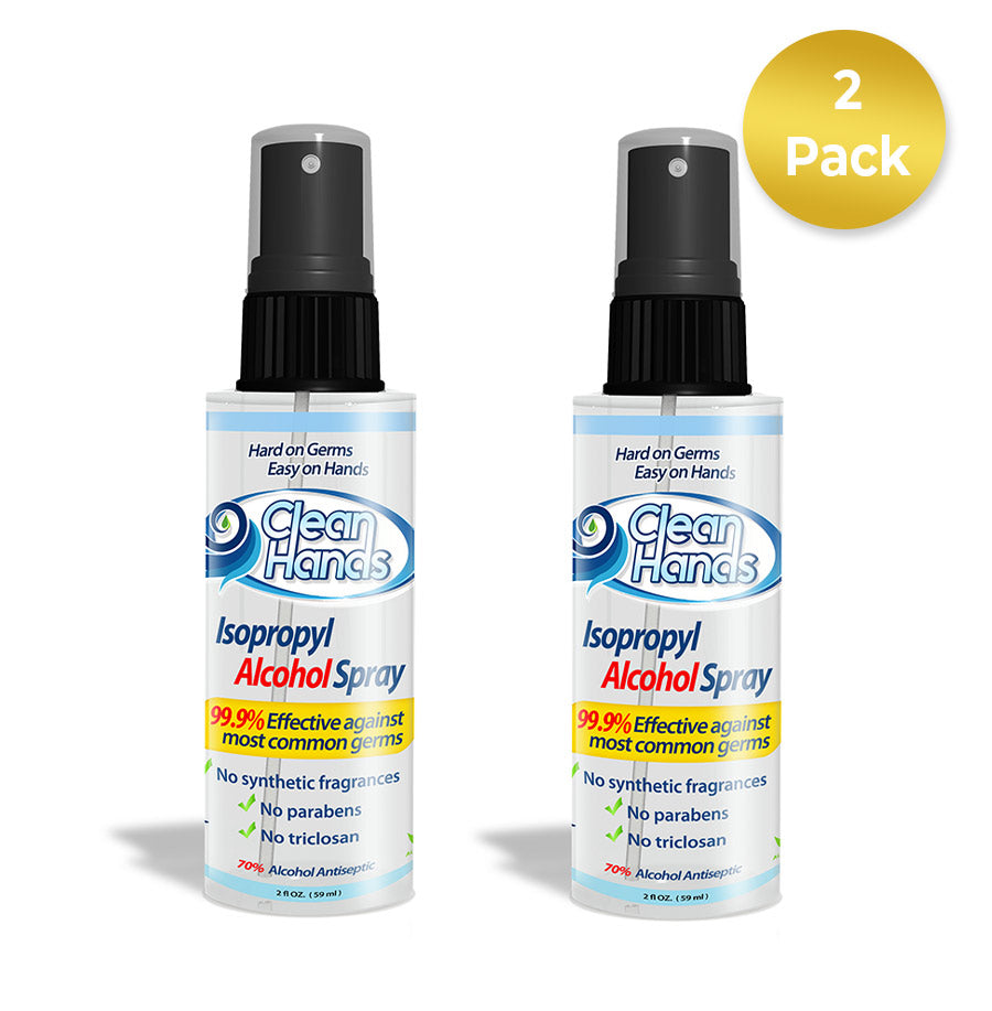 Clean Hands Sanitizer Spray - 2 Pack