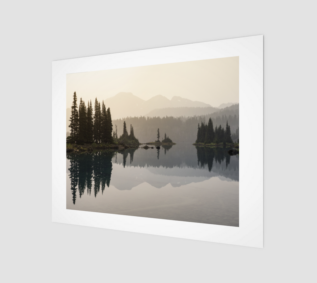 Smokey sunrise over Garibaldi Lake (Garibaldi Provincial Park) Art Print