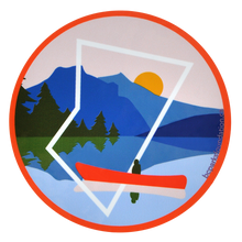 Load image into Gallery viewer, Canoeing Sticker