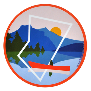 Canoeing Sticker