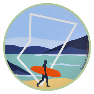 Surfing Sticker