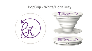 BT Logo White/Purple Pop Socket