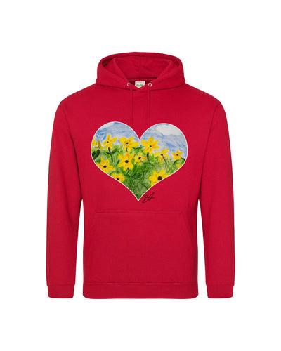 Brennen Taylor Sunflower Signed Heart Hoodie