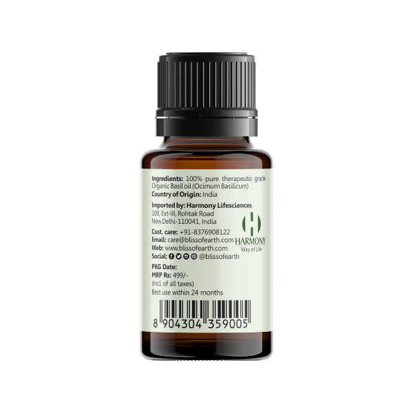 Organic Basil Essential Oil 10ML