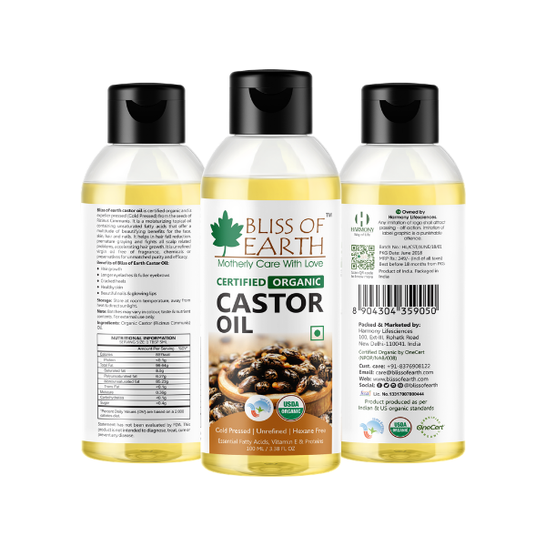 Certified Organic Castor Oil 100ML