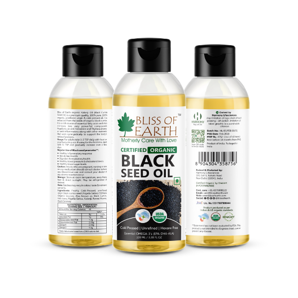 Certified Organic Black Seed (Kalonji) Oil 100ML