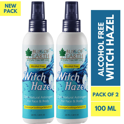 Alcohol Free Witch Hazel Pack of 2X100ML