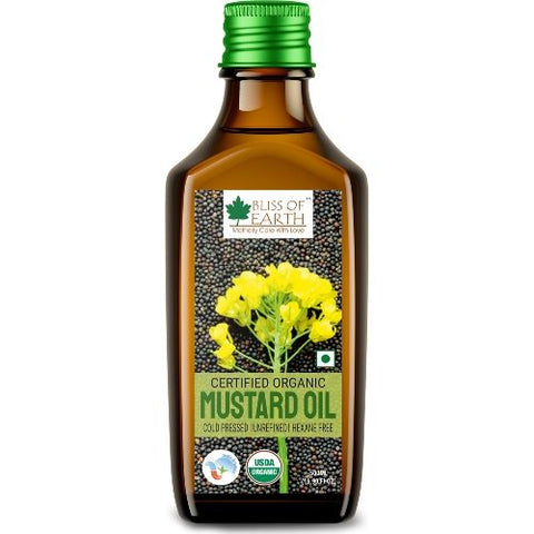 Certified Organic Black Mustard Oil 500ML