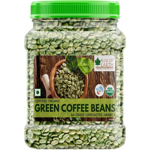 Certified Organic Arabica Green Coffee Beans 500GM