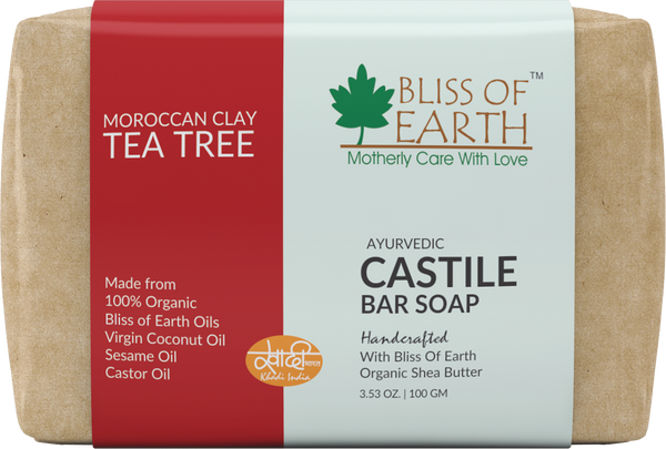 Moroccan Red Clay Tea Tree Castile Bar Soap 100GM