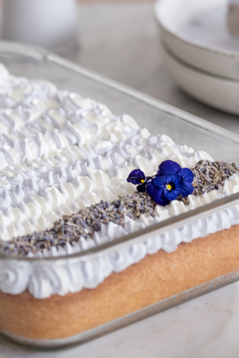 Two Lavender Milk Cake