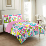 Floral Garden Bee & Butterfly 4 Pieces Duvet Cover Set