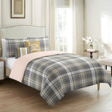 Glen Green Plaid Duvet Cover Set 5pcs