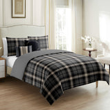 Shepherd Check 5 Pcs Duvet Cover Set