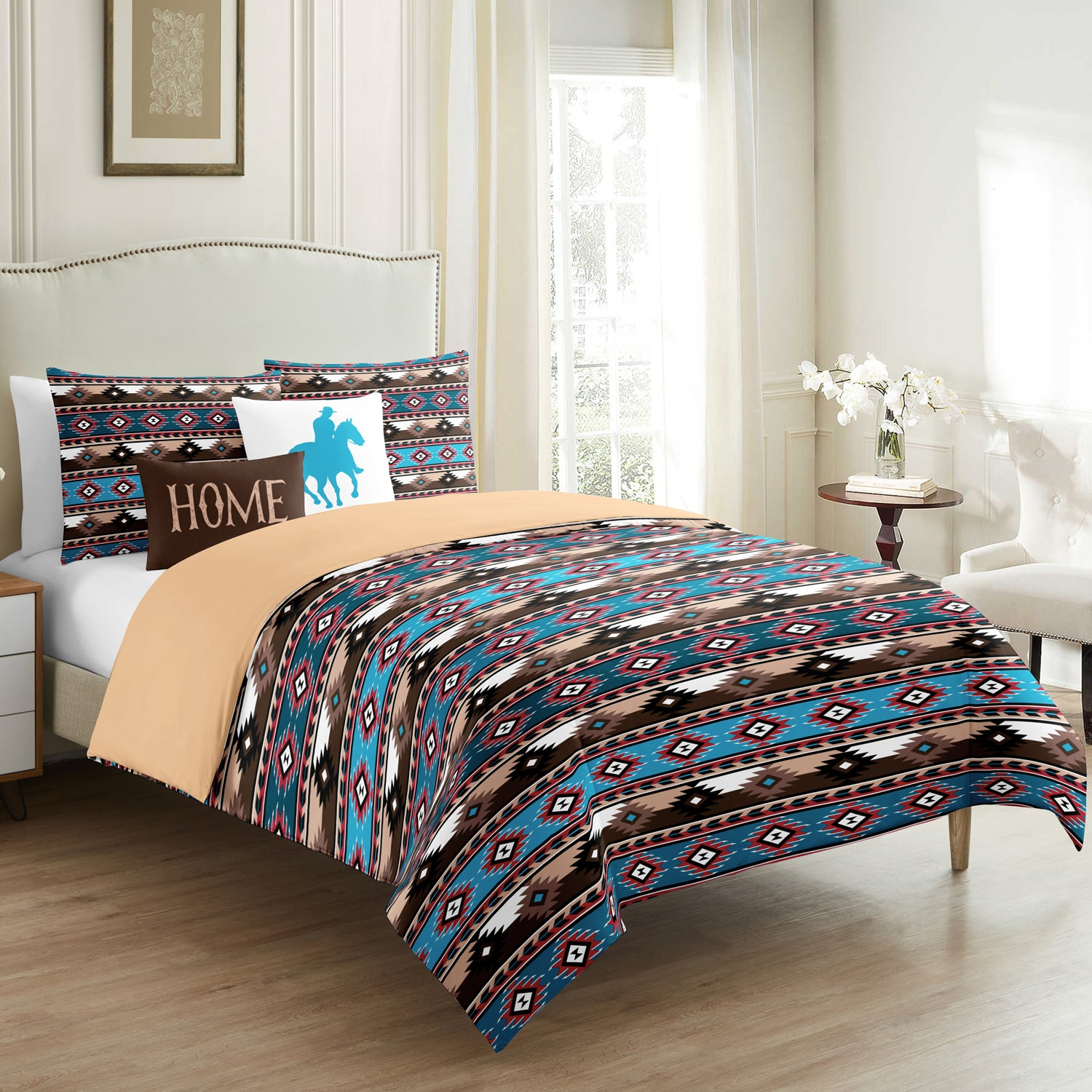 Flame Stitch Duvet Cover 5 Pieces - Merrylife