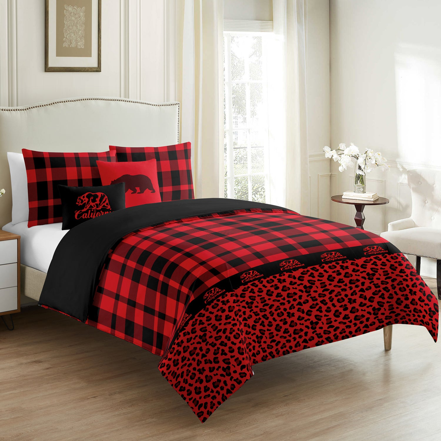 Red Buffalo Check Duvet Cover Set 5 pcs - Merrylife