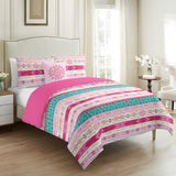 Toile Pink Kids Duvet Cover Set 4 Pieces - Merrylife
