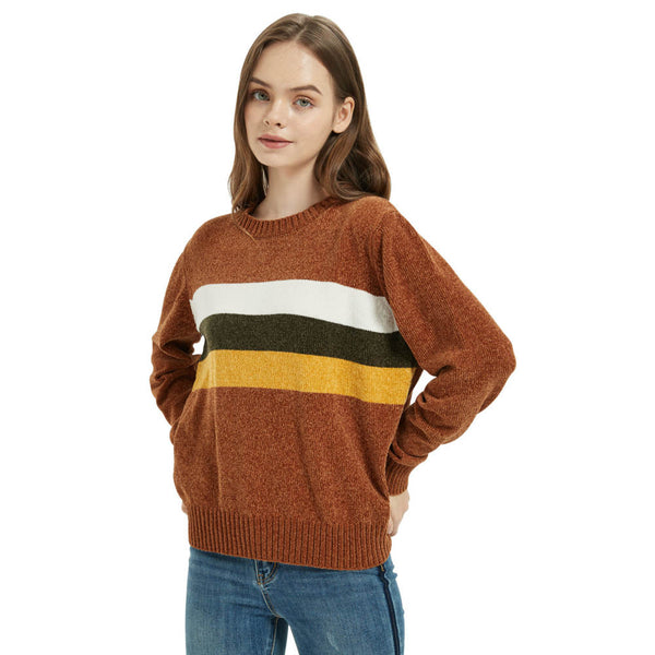 Women's Chenille Crew Neck Sweater