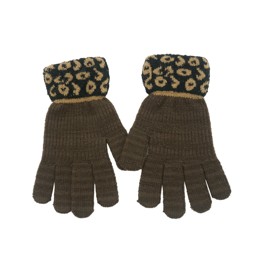 Knit Leopard Gloves - Merrylife