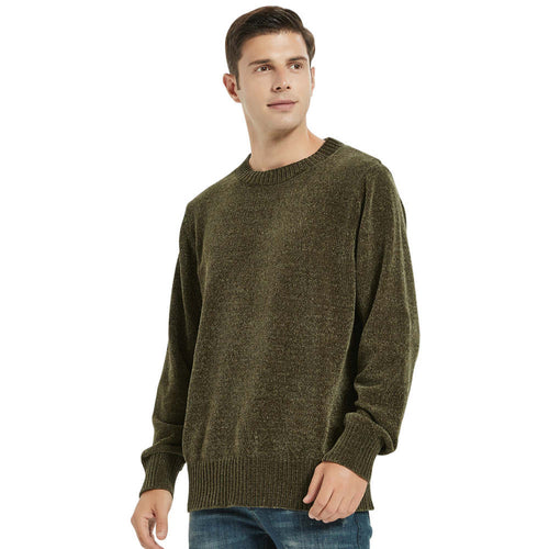 Men's Chenille Crew Neck Sweater