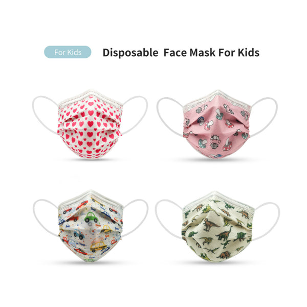 MERRYLIFE 10 Pcs Disposable Ear-loop Face Mask for kids
