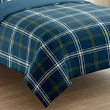 Glenurquhart Blue Duvet Cover Set 5 Pieces - Merrylife