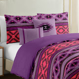 Serpentine Stripe Duvet Cover Set 5 Pieces - Merrylife