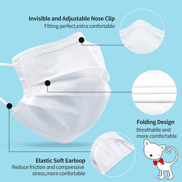 Merrylife® Disposable Earloop Face Mask For Kids