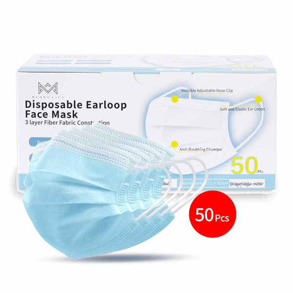 Merrylife® 50 Pcs Disposable Earloop Face Mask