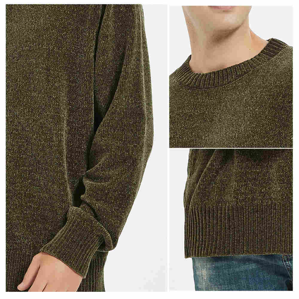 Men's Chenille Crew Neck Sweater - Merrylife
