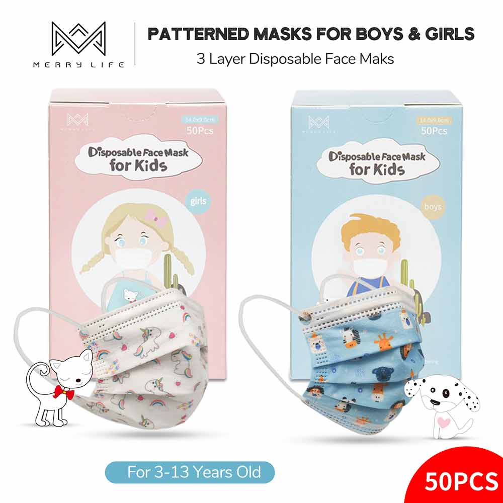 Merrylife® Disposable Earloop Face Mask For Kids - Merrylife