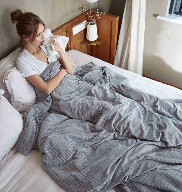 weighted blanket grey