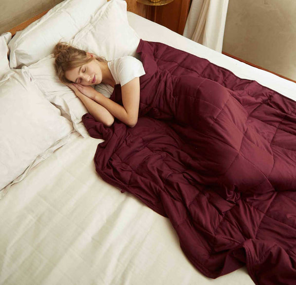 weighted blanket burgundy
