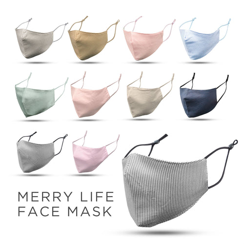 MERRYLIFE Washable Cotton Face Mask