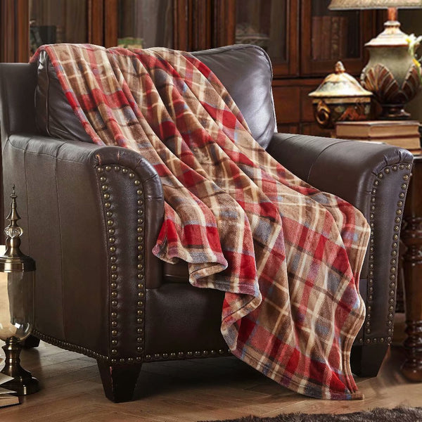 Throw Blanket Fleece Plush Comfort Decorative Couch Blanket