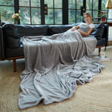 Throw Blanket Fleece Plush Comfort Decorative Couch Blanket - Merrylife