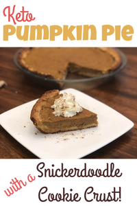Keto Pumpkin Pie w/ snickerdoodle crust