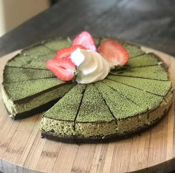 Matcha brownie cheesecake